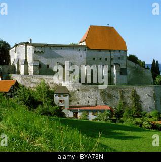 Tittmoning castle, Upper Bavaria, Bavaria, Germany, Europe - Stock Photo