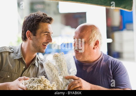 Men selling fruits - Stock Photo