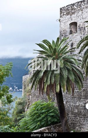 Fort in the historic town of Budva, Montenegro, Europe - Stock Photo