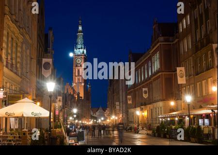 The Main Town Hall, Ratusz Glownego Miasta, Główne Miasto district, Gdansk, Pomerania, Poland, Europe - Stock Photo