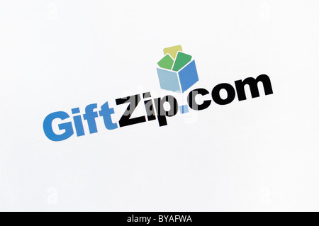 GiftZip.com Website Screenshot - Stock Photo