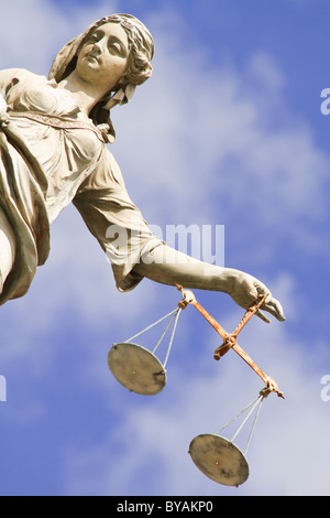 Statue of Lady Justice at Dublin Castle in Dublin, Ireland - Stock Photo