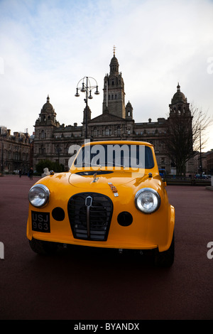 Customised Austin A30 saloon motor car, parked in George Square, Glasgow, Scotland - Stock Photo