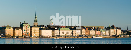 Panorama of Gamla Stan in Stockholm, Sweden - Stock Photo