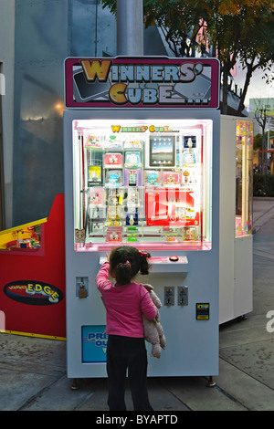 Winners Cube is a prize machine from Andamiro. - Stock Photo