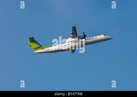 Baltic Air De Havilland Canada, propeller aircraft climbing