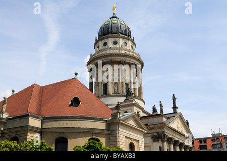 Franzoesischer Dom, French Cathedral, Gendarmenmarkt square, Berlin, Germany, Europe - Stock Photo