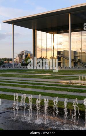 Paul Loebe-Haus, Federal Parliament building, Spreebogen, Spree river, Berlin, Germany, Europe - Stock Photo