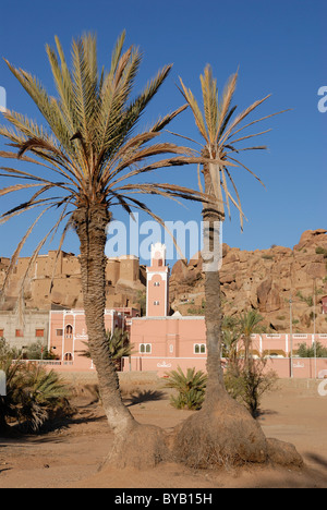Mosque in Tafraoute, Morocco, Africa - Stock Photo