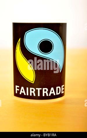 Fairtrade logo - Stock Photo