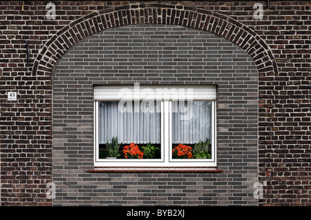 ... Modern plastic window built into an old bricked-up doorway small farmhouse in & Bricked up window in an old brick wall Stock Photo Royalty Free ... Pezcame.Com