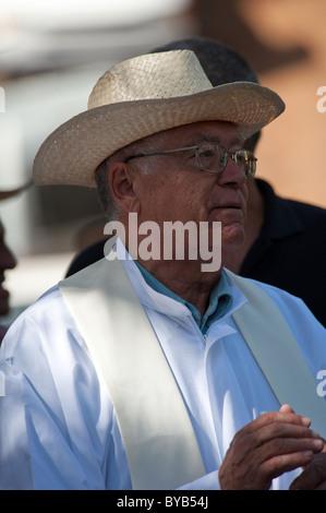 Local man of La Palma at the festival of San Martin de Porres in El Barrial de abajo, El Paso, La Palma, Canary - Stock Photo