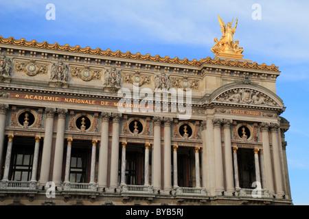 Main facade, Opéra de Paris, Palais Garnier, 9th Arrondissement, Paris, France, Europe - Stock Photo
