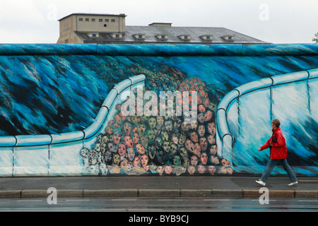 A gdr east german mural on the ministry of finance for Berlin wall mural