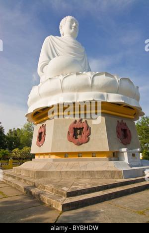 Buddha statue at Long Son Pagoda, Nha Trang, Vietnam, Asia - Stock Photo