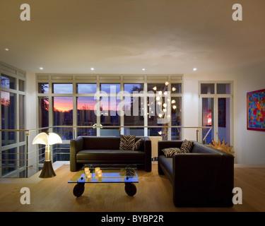 ARCHITECTURE: Contemporary livingroom (Germany/Bad Toelz) - Stock Photo