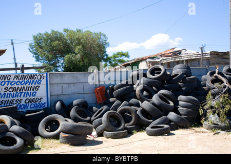 Lwandle township near Gordons bay - Cape - South Africa - Stock Photo