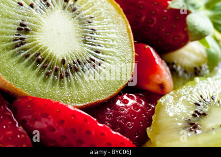 Kiwi with Strawberries - Stock Photo