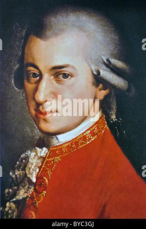 Wolfgang Amadeus Mozart portrait - Stock Photo