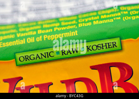 Kosher And Organic Signs On Food Package Stock Photo 49143727 Alamy