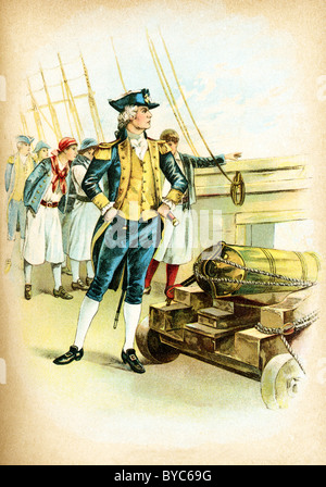 John Paul Jones (1747-1792) was an American naval hero. He raided the shores of British Isles during the Revolutionary - Stock Photo