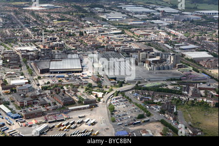 Aerial view of Molson Coors brewery Burton Upon trent - Stock Photo