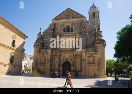 Ubeda, Jaen Province, Spain. Sacra Capilla de El Salvador del Mundo, Plaza Vázquez de Molina. - Stock Photo