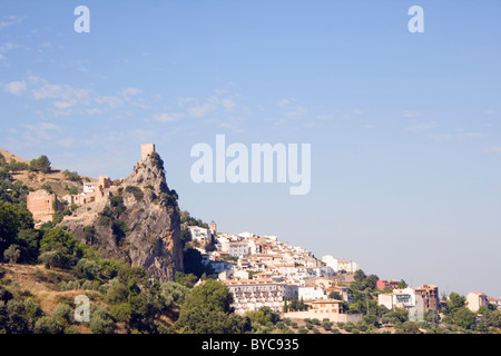 Cazorla, Jaen Province, Andalucia, Spain. Yedra Castle and town. - Stock Photo