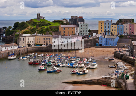 Tenby Harbour , Pembrokeshire , West Wales - Stock Photo