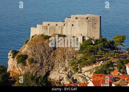 Lovrijenac fortress, Dubrovnik, historic center, Croatia - Stock Photo