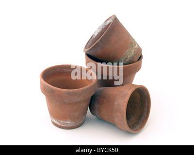 flower pots - Stock Photo