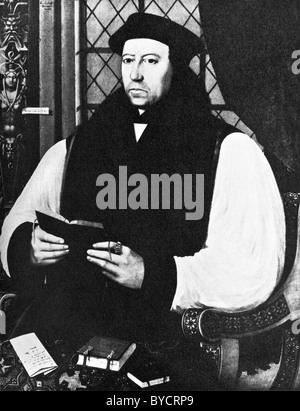 Portrait painting of Thomas Cranmer (1489 - 1556) - Protestant Archbishop of Canterbury and a leader of the English - Stock Photo