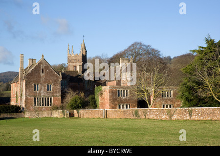 Church of St Thomas of Canterbury and medieval manor house of the Quantock village of Cothelstone near Taunton in - Stock Photo