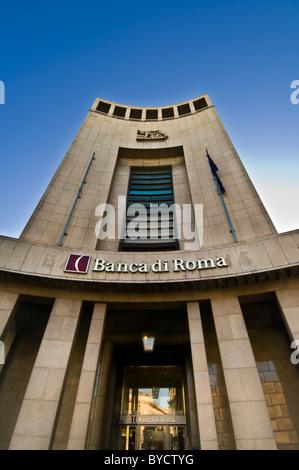 Italy Milan, city, exterior building of Banca di Roma - Stock Photo