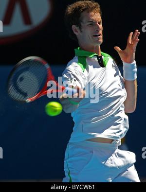 Australian Open Tennis 2011. Melbourne. Monday 24.1.2011. Andy MURRAY (Gbr) - Stock Photo