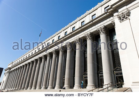 The General Post Office, New York City, USA - Stock Photo