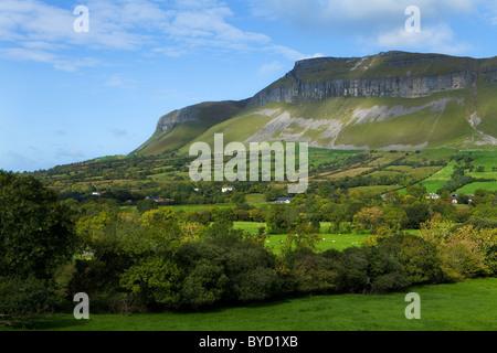 Benbulben and King's Mountain in Yeats Country, County Sligo, Ireland - Stock Photo