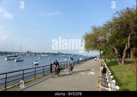 Riverside Park on the Upper West Side, New York City, USA - Stock Photo