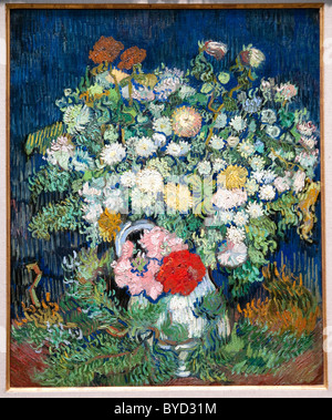Bouquet of Flowers in a Vase, 1890, by Vincent van Gogh, Dutch, - Stock Photo