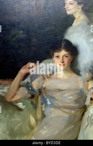 Detail: The Wyndham Sisters: Lady Elcho, Mrs. Adeane, and Mrs. Tennant, 1899, by John Singer Sargent - Stock Photo