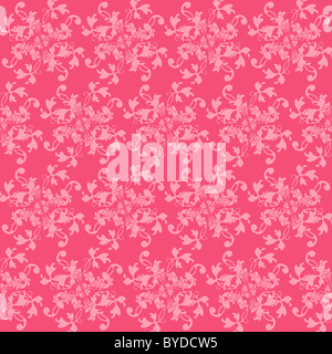Seamless Pattern In Trendy Honeysuckle Pink Color - Illustration - Stock Photo