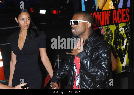 Kanye West and guest World Premiere of 'Smokin' Aces' held at the Grauman's Chinese Theatre Hollywood, California - Stock Photo
