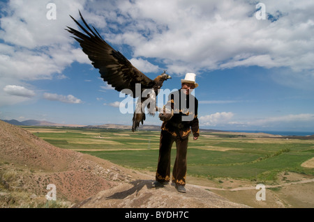 Eagle, raptor hunter, Issy Koel, Kyrgyzstan - Stock Photo
