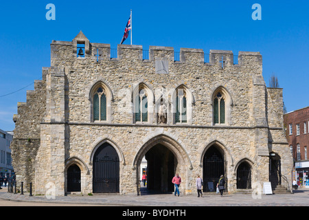 The Bargate from the south, High Street, Southampton, Hampshire, England, United Kingdom, Europe - Stock Photo