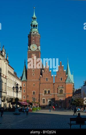 Town Hall, Wroclaw, Lower Silesia, Poland, Europe - Stock Photo