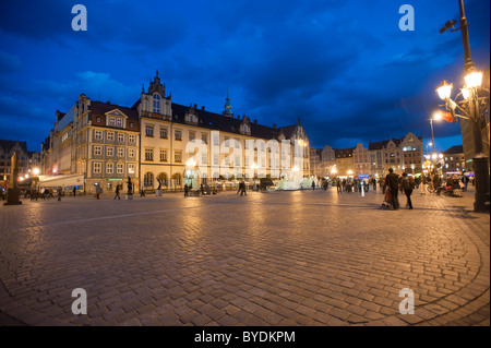 Rynek, Market Square, Wroclaw, Lower Silesia, Poland, Europe - Stock Photo
