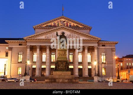 National Theatre Munich, Bavarian State Opera, Munich, Bavaria, Germany, Europe - Stock Photo