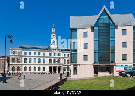 Riga City Council, Rigas Dome, Town Hall Square, Ratslaukums, old town, Vecriga, Riga, Latvia, Northern Europe - Stock Photo