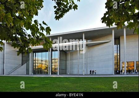 Pinakothek der Moderne modern art museum, northern facade, Munich, Bavaria, Germany, Europe - Stock Photo