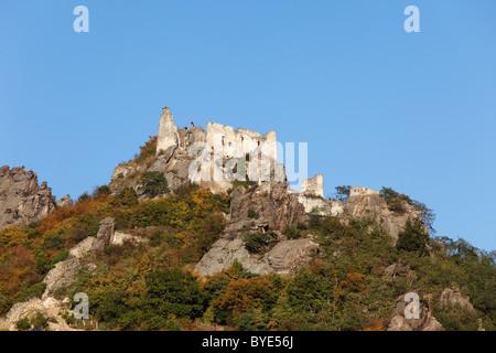 Ruine Duernstein castle ruins, Wachau, Waldviertel, Lower Austria, Austria, Europe - Stock Photo